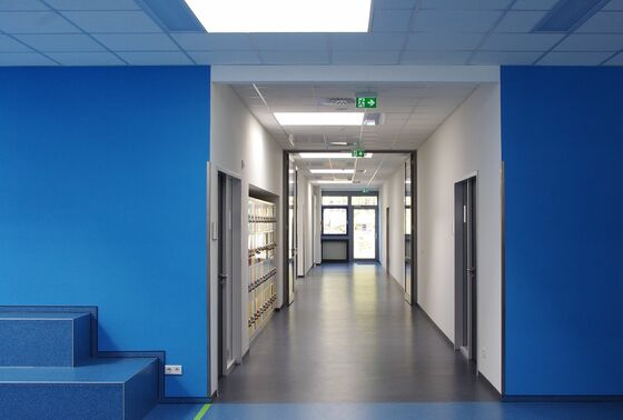 Durable wallcovering plays a key role in the renovation of this school building