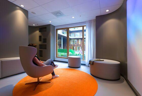Desinfizierbare Vinyl-Möbelstoffe für pädiatrisches Onkologiezentrum