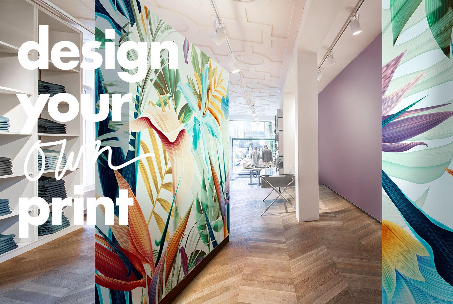 digital printed wallcovering design your own print