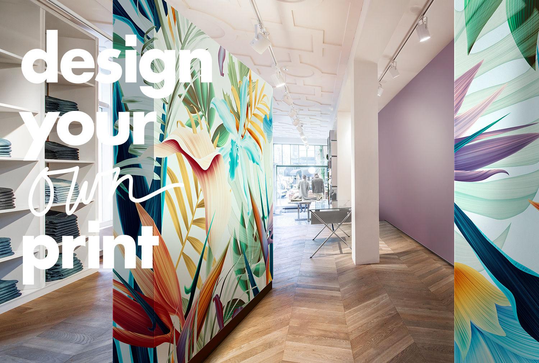 Décoration Murale Bureau Entreprise impression numérique murale: concevez votre propre design
