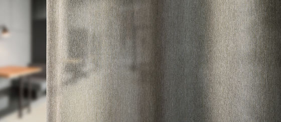 close-up transparante akoestische gordijnstof capri