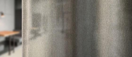 close-up transparente akustische Vorhangstoff Capri