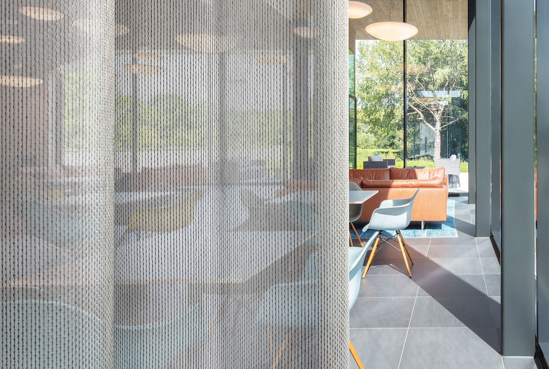transparant acoustic curtain fabric Corsica