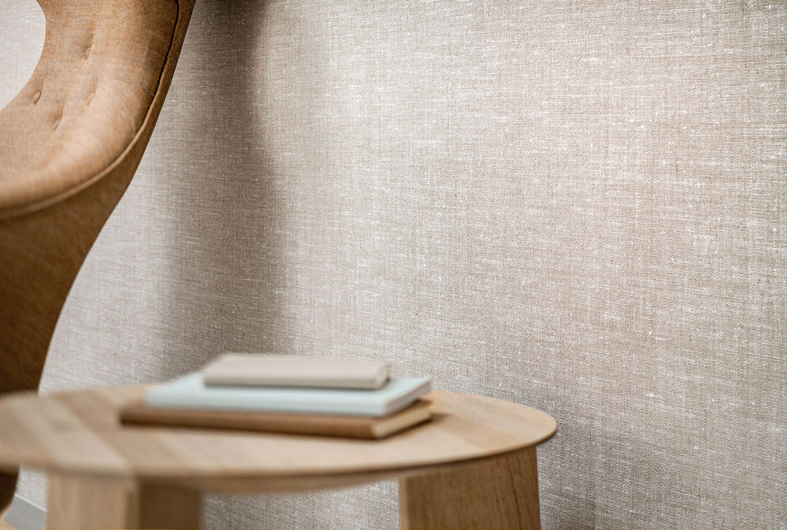 Textile wallcovering design Linosa close-up