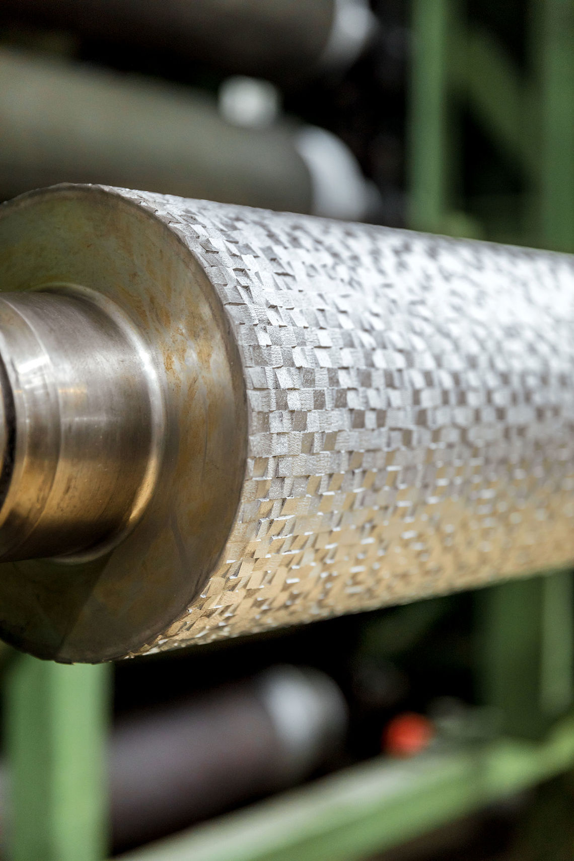 The embossing roller for Vescom's wallcovering Shannon