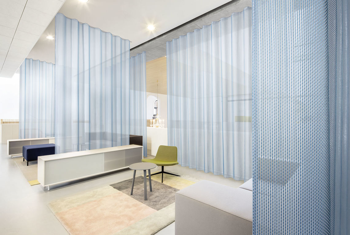acoustic curtain design Formoza can significantly improve the acoustic value of a space