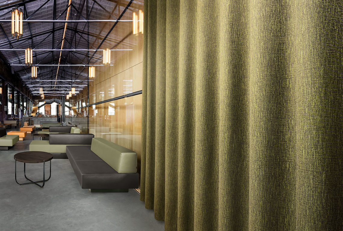 The rich texture of the Farasan curtain elevates interiors with style