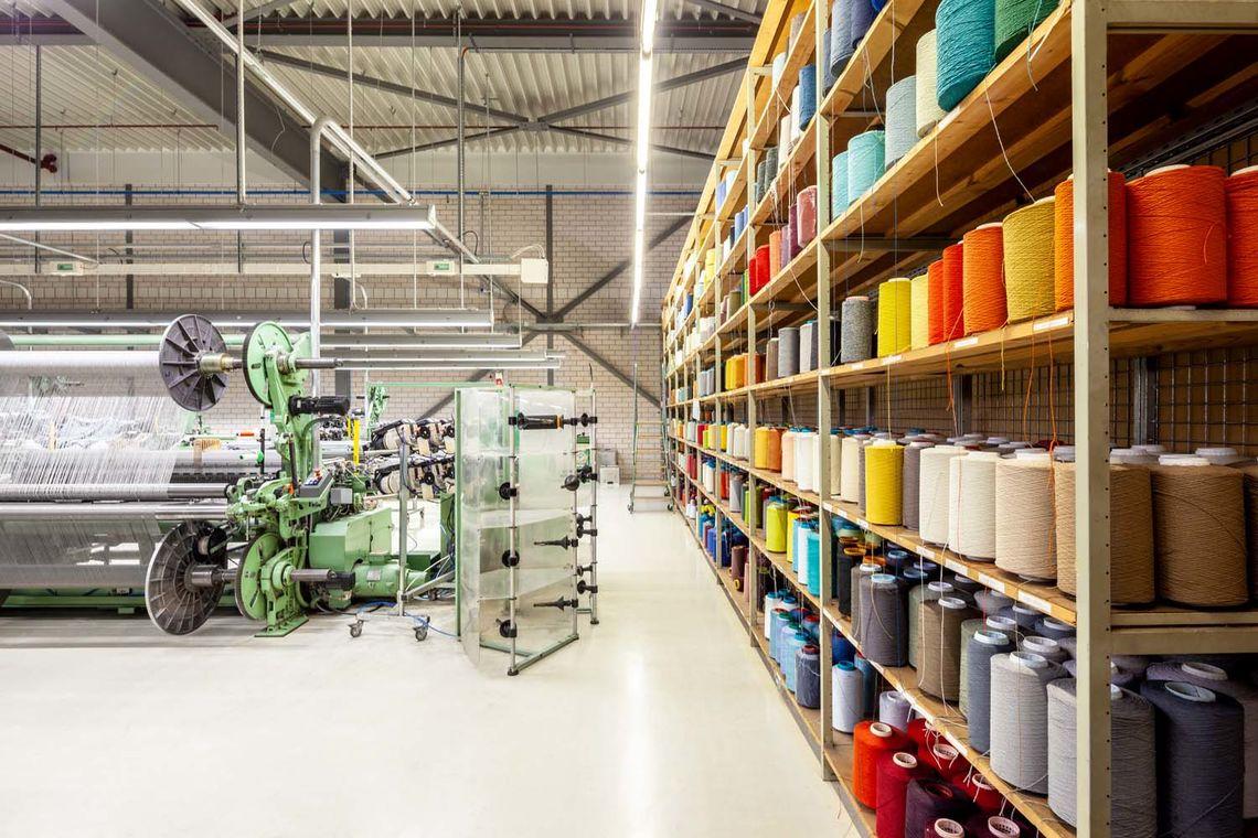 Vescom productie weverij in Helmond