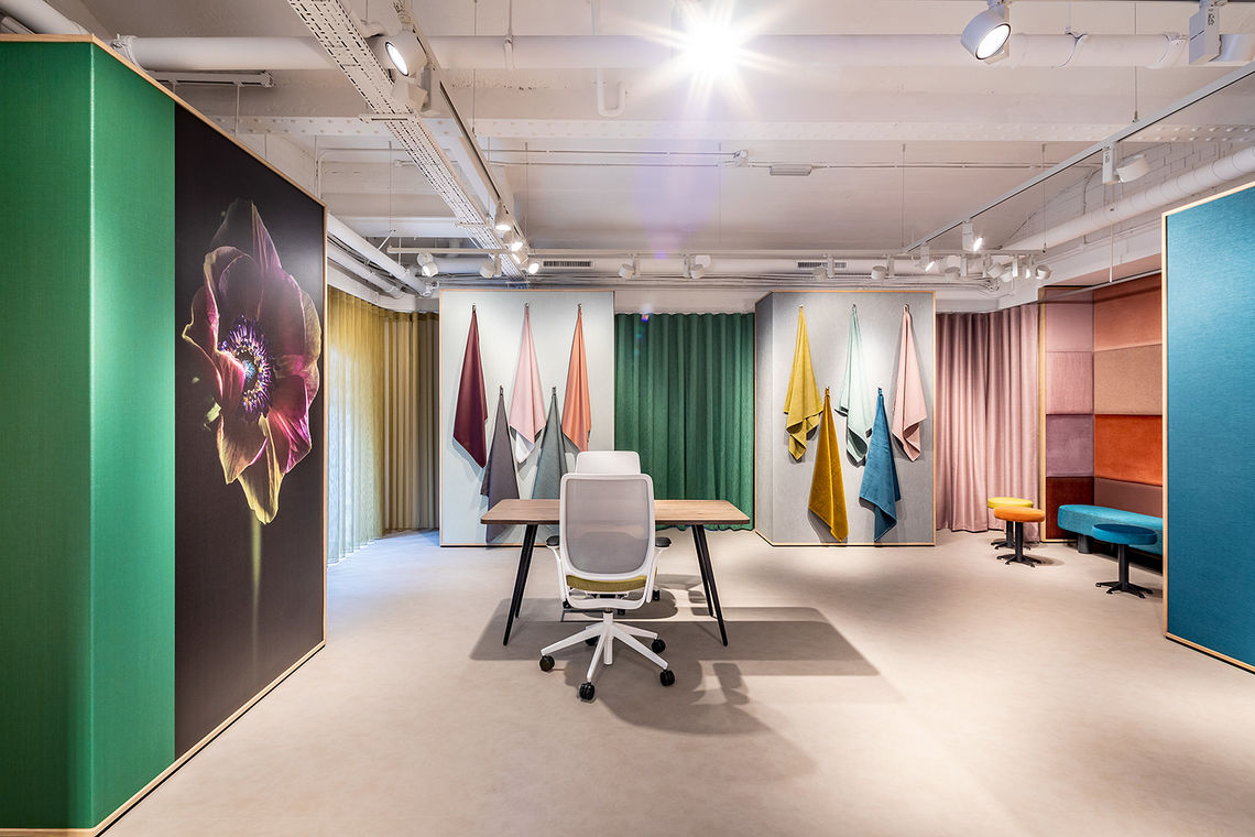 Vescom's London showroom