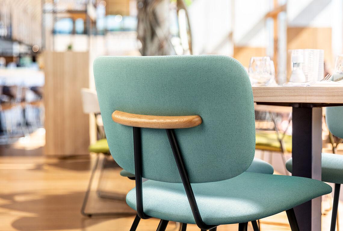 vinyl upholstery design arrow on chair