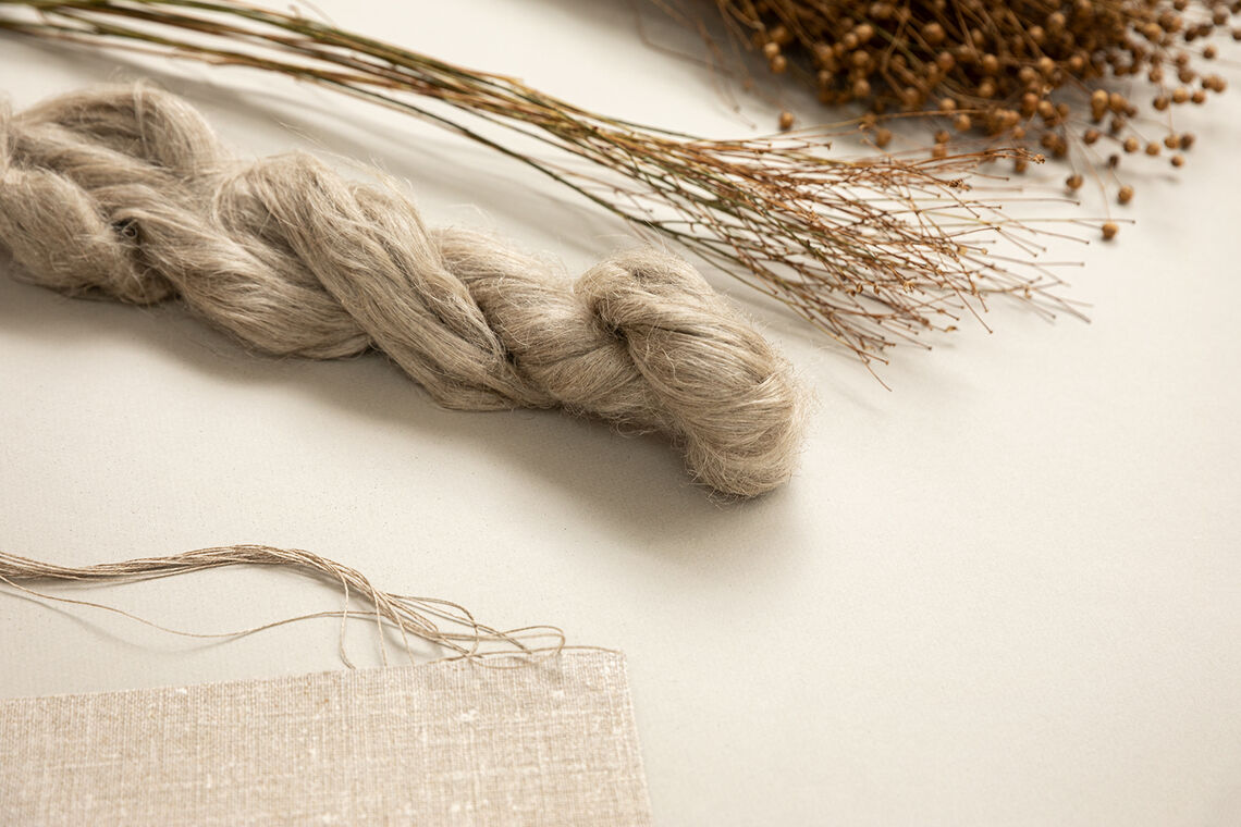from flax plant to textile wallcovering