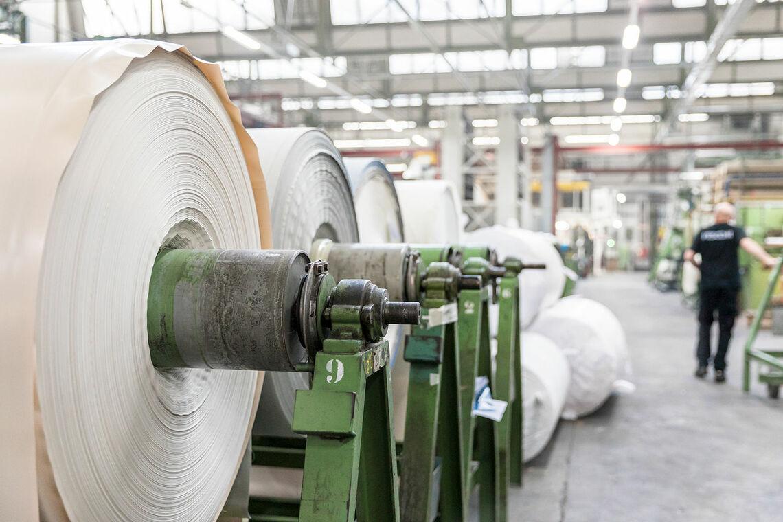 Vescom's in-house production facility