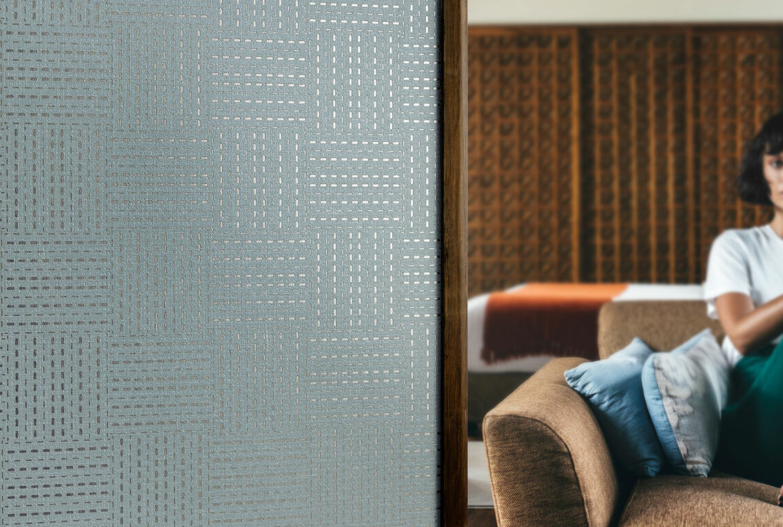 Textile wallcovering design Meshlin