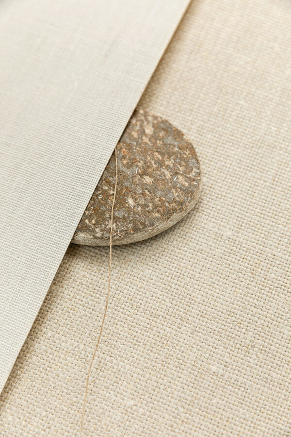 close up two different linen wallcovering designs