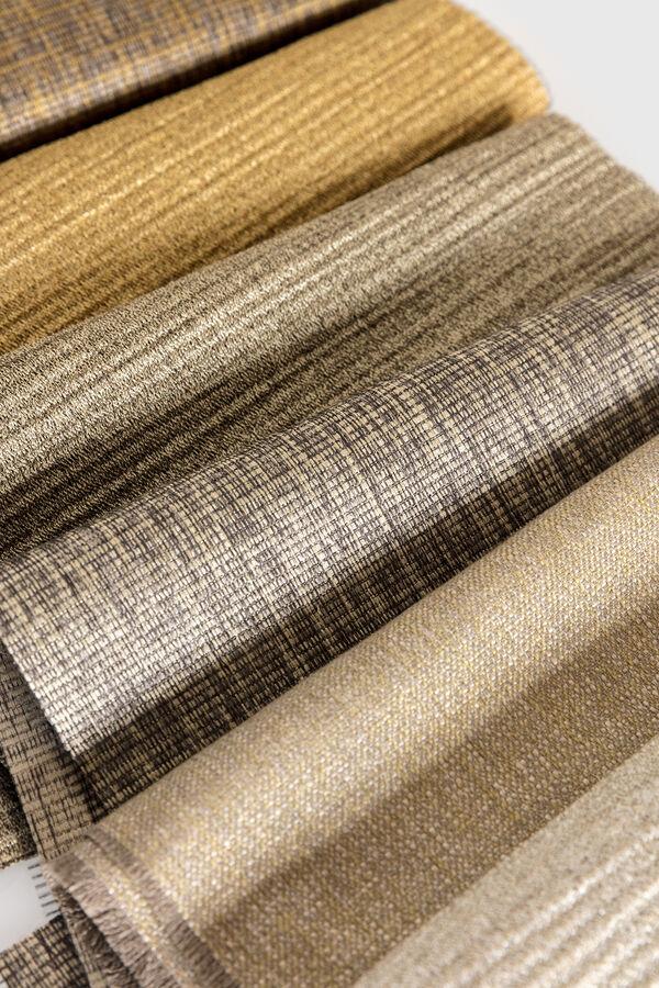 Close up of various curtain fabrics
