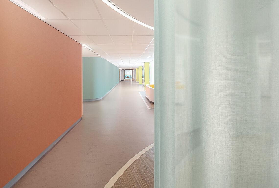 transparente gordijnstof Swan in een ziekenhuis