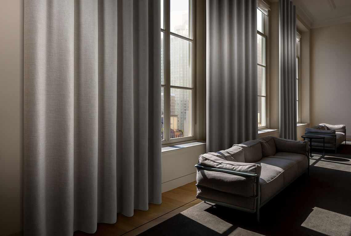 Dim out curtain in a hospitality setting