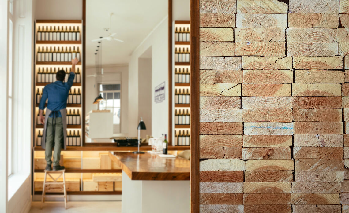 customized digital printed wallcovering with bricks