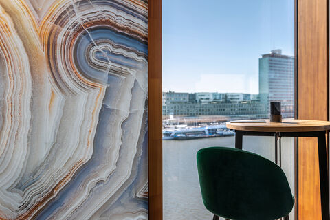 customized digital printed wallcovering on a cruise ship