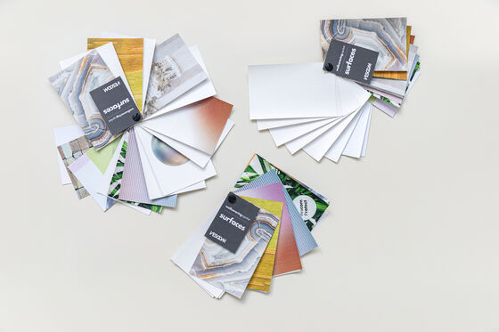 3 mini-swatches that hold all printable surfaces