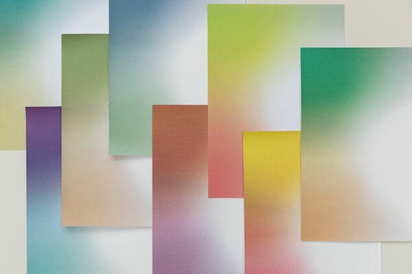 colourful samples digital printed wallcovering