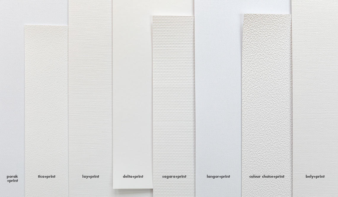 8 printable surfaces in white